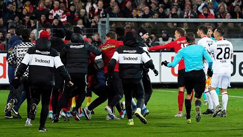 Eintracht Frankfurt v Freiburg Brawl